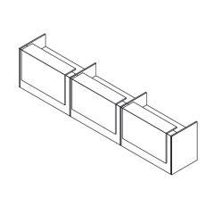 Z2 balie rechthoek met 3 opzetelementen compleet
