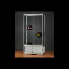 vitrinekast 100 cm met onderkast
