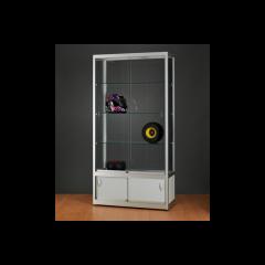 vitrinekast 120 cm met onderkast