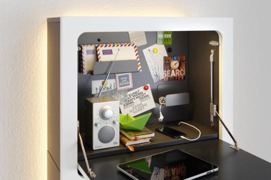 opklapbaar wandbureau bij. Black Bedroom Furniture Sets. Home Design Ideas