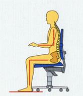 Kantoorstoel 90° hoek